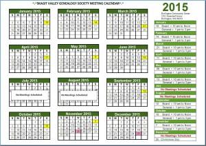 2015 Calendar Schedule